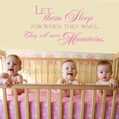 LET THEM SLEEP Twins Wall Quote - Cute twist to a popular quote ...