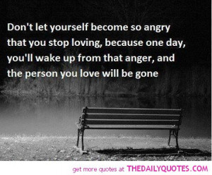 Don't Let Yourself Become Angry