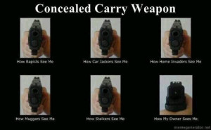 What I do,Concealed carry weapon