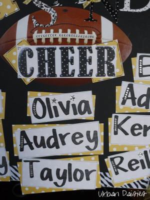 Urban Daisies: Homecoming Cheer Poster