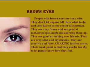 What Does Your Brown Eye Color Say About You?