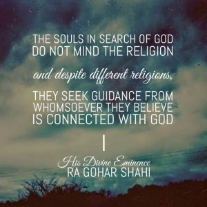 Quote of the Day: The Souls in Search of God
