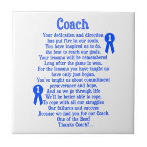 Coach Thank You Tiles