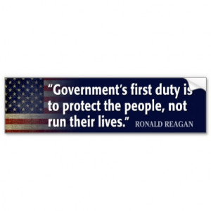 Ronald Reagan Quote on Socialism Bumper Stickers