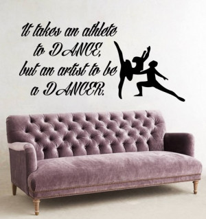 Ballet Wall Decal Dance Man Woman Dancers Wall Decals Quotes Vinyl ...