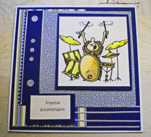 Drums Birthday Card...