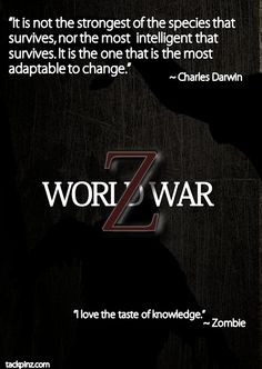 world war z good movie more world wars z quotes charles darwin good ...