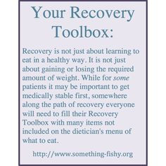 Eating Disorder Recovery Toolbox: somethingfishy.org THIS IS THE ...