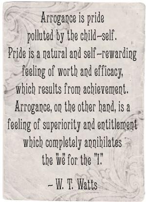 arrogance, vanity, pride, disdain, pretension, smug, vain, aloof, ego ...