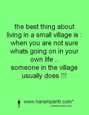 Quotations about essay village life