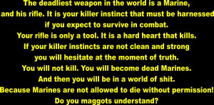 Full Metal Jacket Funny Quotes Gunnery sergeant hartman quote