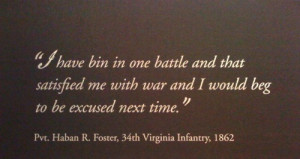 Foster war quote