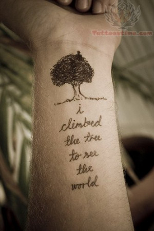 Tattoos With Quotes On Wrist