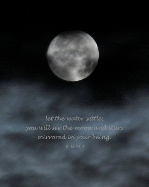 Rumi, moon and stars quotation, photo quote, 4 x 6 inches night sky ...