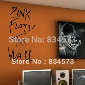Product ID: 1535035622 Hot PINK FLOYD THE WALL Quote Wall Art Stickers ...