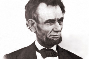 Look at the eye of Mr. Lincoln in this first inaugural photo: