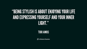 Being stylish is about enjoying your life and expressing yourself and ...