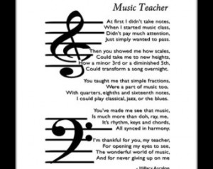 Printable Music Teacher/Educator Original poem