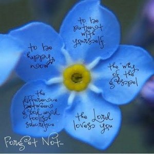 Forget-Me-Not by President Uchtdorf...