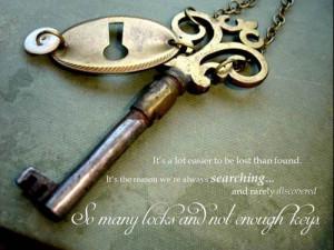 ... dessen quotes # lock and key # keys # vintage keys # lost # alone