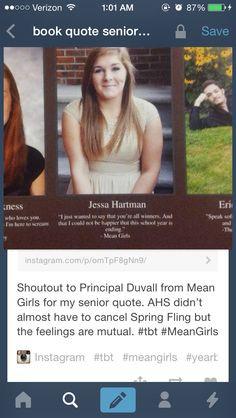 ... girls more senior shit senior years mean girls senior quotes senior
