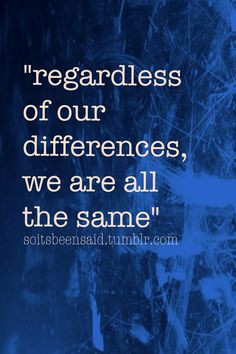 ... quotations regardless of our differences we are all the same diversity