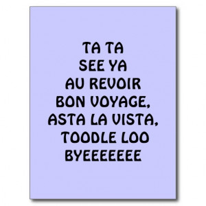Bon Voyage Post Cards