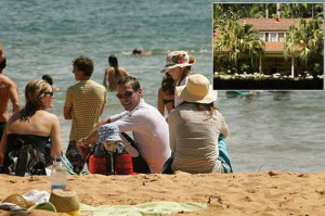 James Murdoch and family soak up the sun at Palm Beach, just across ...
