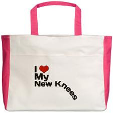 Double Knee Replacement Beach Tote for