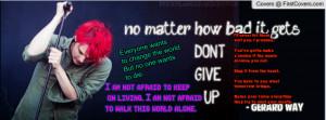 Gerard Way MCR Quotes cover