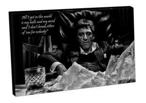 Canvas-Picture-art-print-ready-to-hang-TONY-MONTANA-SCARFACE-quotes