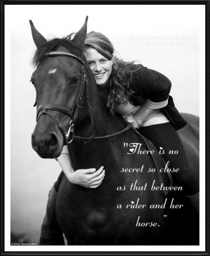The mystical bond between a horse and rider....