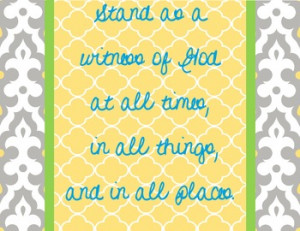 LDS Quote- Stand as a Witness