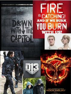Mockingjay collage made by Abby E. Clark with more to come More