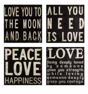 ... And Sayings: Collier Black And White Wall Quotes About Peace And Love