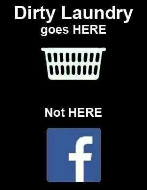 Dirty laundry basket not facebook