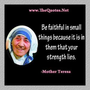 Mother Teresa Quotes : Faith - TheQuotes.Net | Image Motivational ...