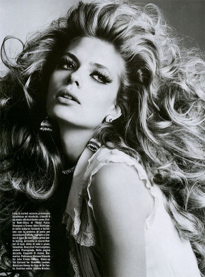 ... big hair shoot from vogue italia you can find part one of this big