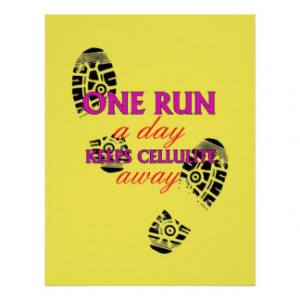 Funny Running Quote - Motivational Fitness Posters Poster