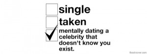 ... Quote facebook cover, 'Dating a celebrity facebook photo cover