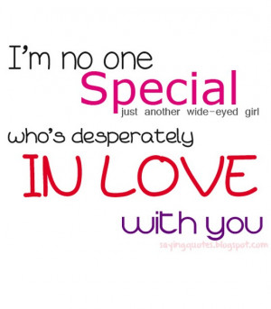am no one special just another wide