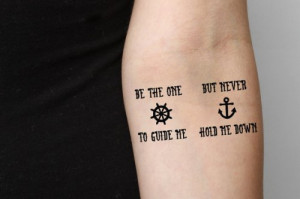 Anchor Quote - temporary tattoo (Set of 2) - Guide Me-2