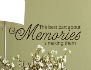 Memories Quote Vinyl lettering words Wall Decal, Family room Decor ...