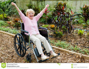 ... is overjoyed because she has triumphed over her health problems