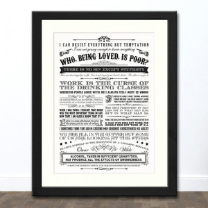 Oscar Wilde Quotes Typographic Print | Available Framed or Unframed