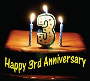Happy 3rd Anniversary!!
