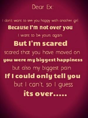 Dear Ex Quotes Dear ex