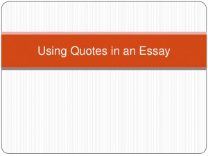 using block quotes in a research paper
