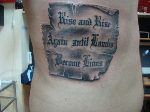 Bible Tattoo Quotes For Girls For Men For Women For Guys Tumblr About ...