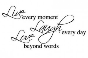 ... quotes | Live Laugh Love Wall Sticker - Large - Motto Quote Wall